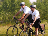 Bicycle patrol at Midland Police Service