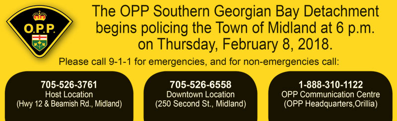Call OPP for policing at 1-888-310-1122